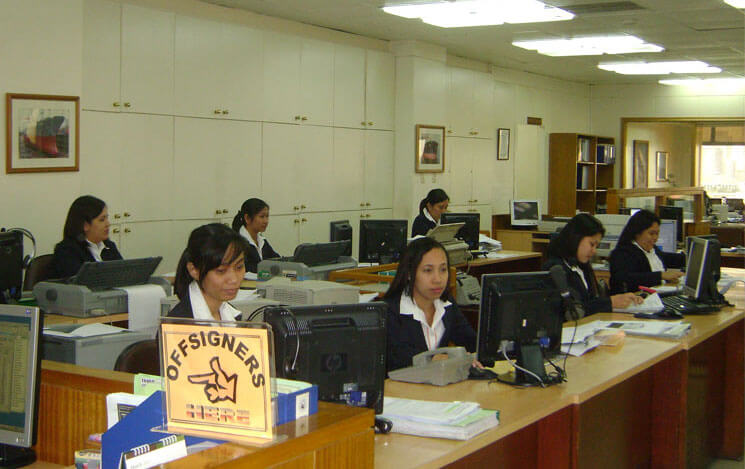 Interorient's offices in Philippines